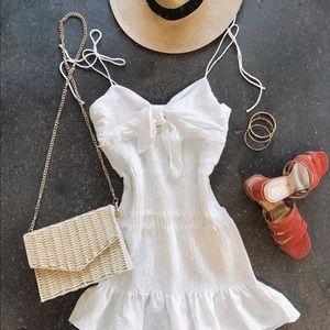 🆕Corsica Smocked Tie Strap Mini Dress